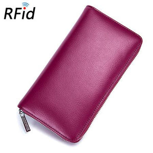 Rose red womens card holder wallet