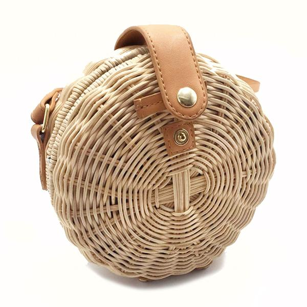 Rattan women crossbody bag