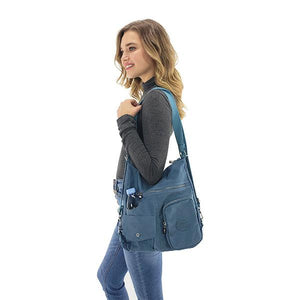 convertible shoulder backpack purse, Grape, Black, Beige, Purple, Navy Blue, Emerald, Sea Blue, Blue Gray