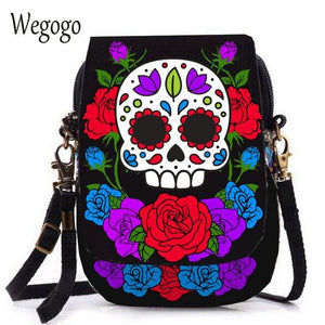 Kaira, Attractive Messenger Bag, skull