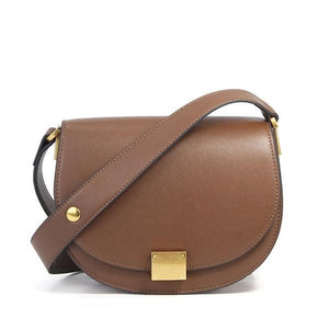 Brown saddle leather purse crossbody