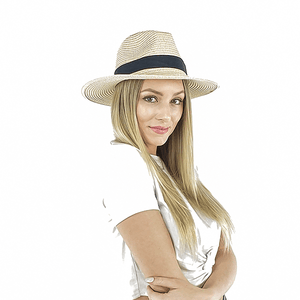 adjustable straw panama hat for women, beige