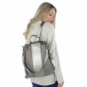 Anti theft backpack purse, Grey, Black, Blue