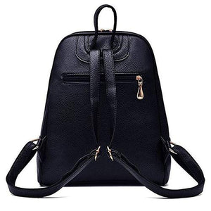 small rear leather backpack