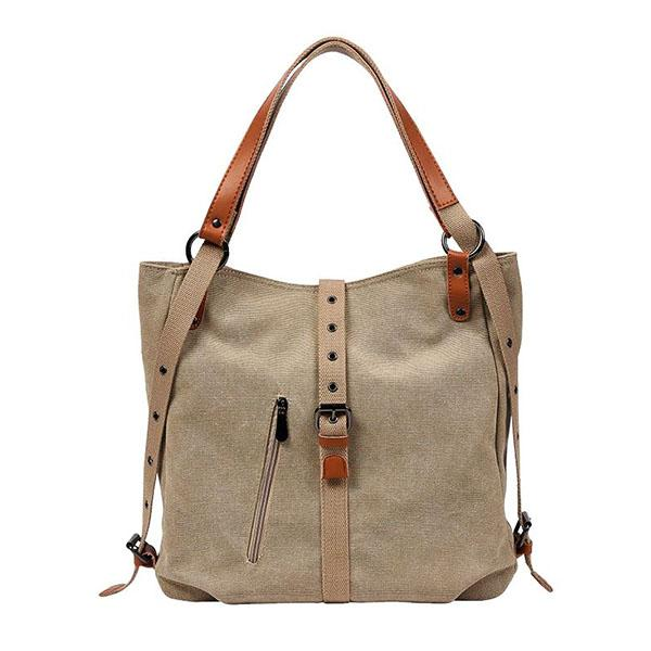 Canvas backpack purse women