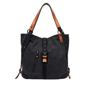 plain black canvas tote bag