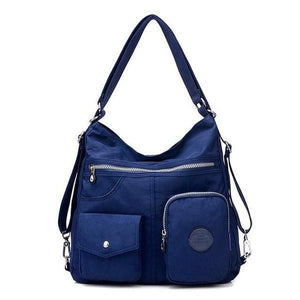 Navy blue convertible backpack purse