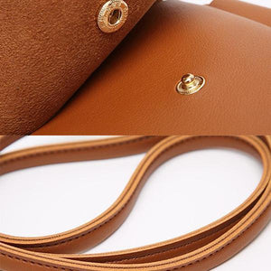 Brown phone crossbody bag