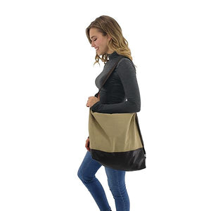 Large capcity canvas tote bags convertible