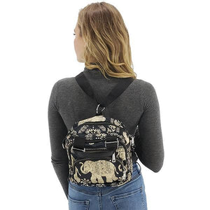 Elephant print backpack,