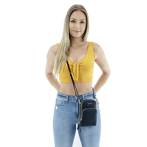 multi pocket cross body phone bag