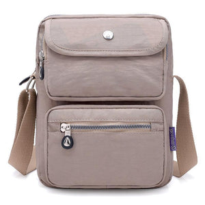 Apricot crossbody nylon bag women