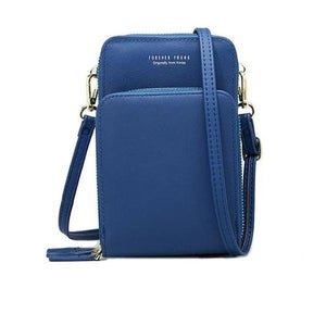 Blue small crossbody bag cell phone purse