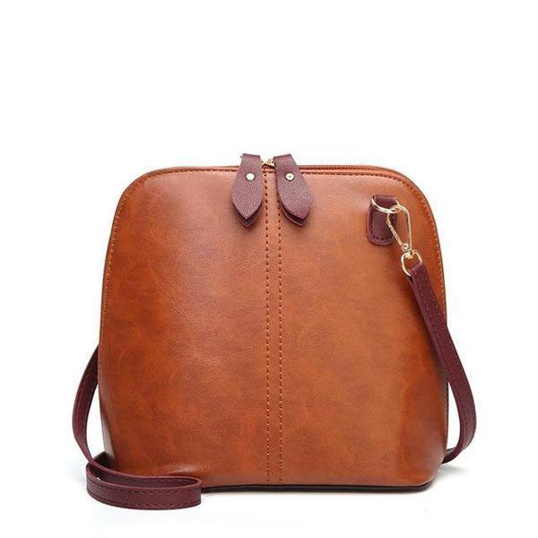 Vintage leather crossbody shoulder bag