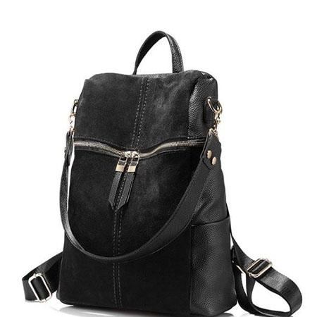 Suede backpack for women