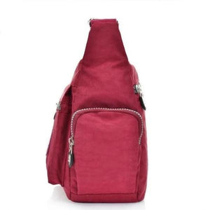 Side zipper pocket nylon bag