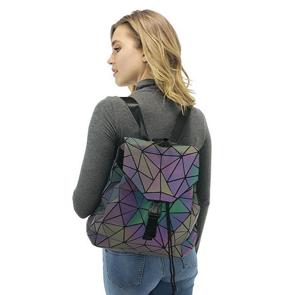 Geometric luminous backpack, Light Grey, Multi, Dark Grey, Clear