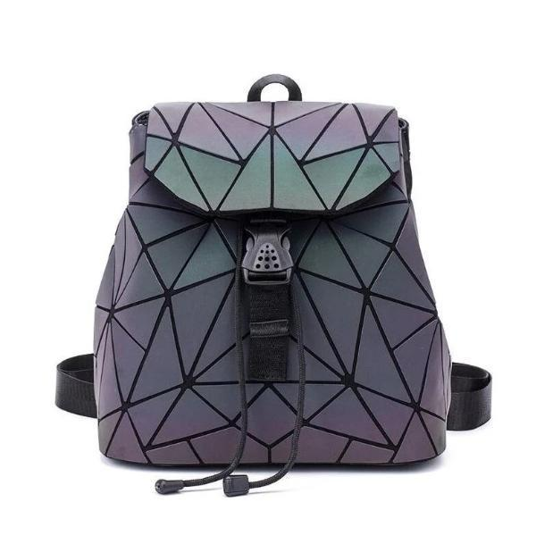 Geometric backpack luminous design