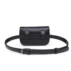 womens black fanny pack