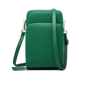 Green small crossbody bag cell phone purse