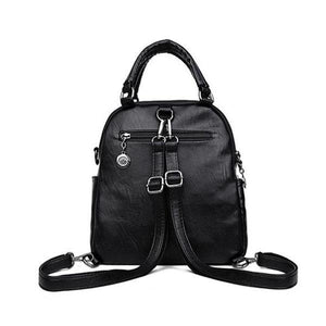 leather backpack purse with removable backpack strap