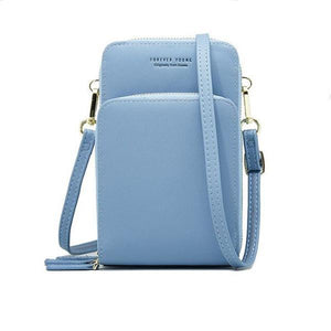Light blue small crossbody bag cell phone purse