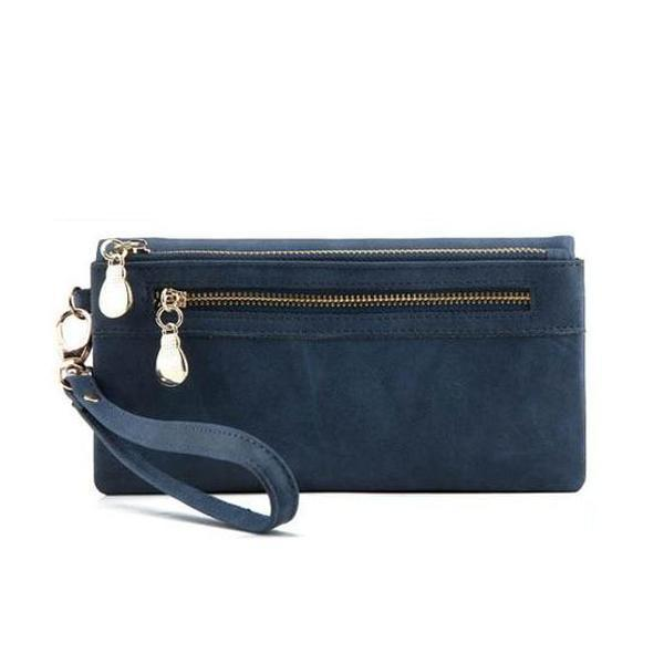 blue wallet for women with wristlet