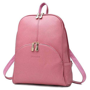 cute Pink small leather backpack