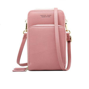 Pink small crossbody bag cell phone purse