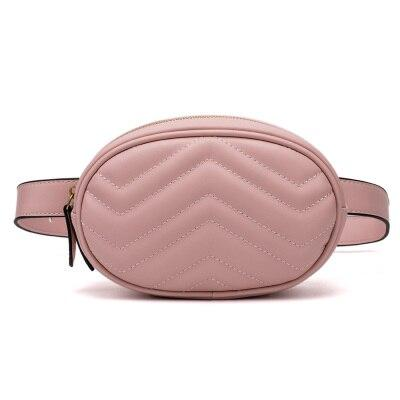Gold leather fanny pack