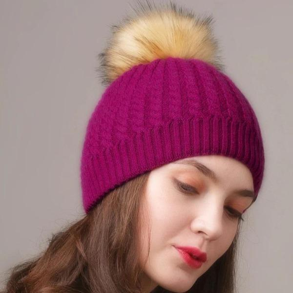 pompom beanie for women