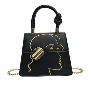 The art, Stylish Women Handbag, black