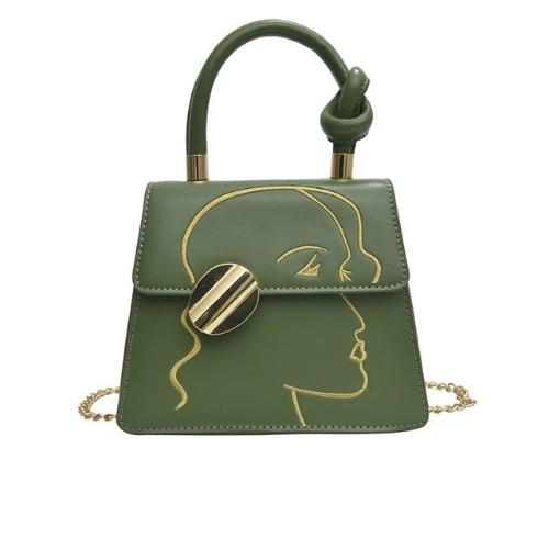 The art, Stylish Women Handbag, green
