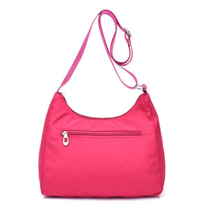 lightweight handbag with rear pocket