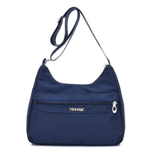 Deep blue lightweight nylon handbags women