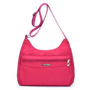 Hot pink lightweight nylon handbags women