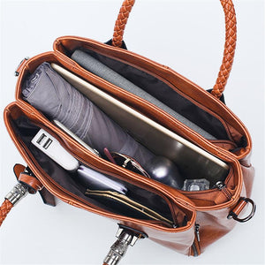 Autumn, Gorgeous Multifunctional Handbag, open compartments with accessories
