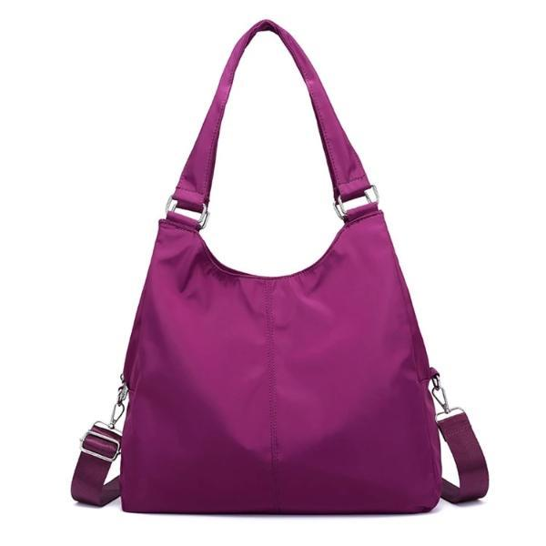 Purple nylon cross body handbags women