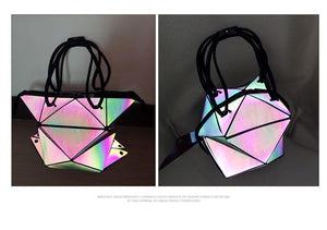 Two Luminous, Reflective Women Shoulder Bag with reflective stripes