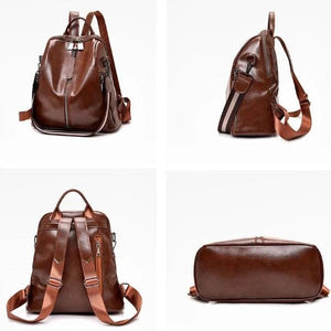 Brown best vegan leather backpacks
