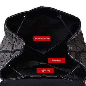 Luminous Reflective Backpack for Women, inner compartments