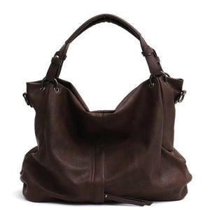 Coffe large hobo crossbody bags leather