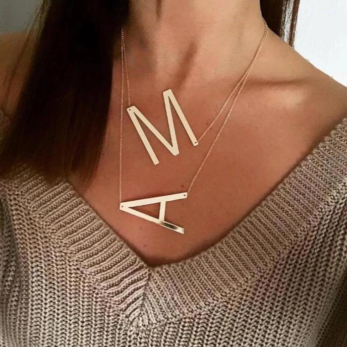 Letter necklace large initial