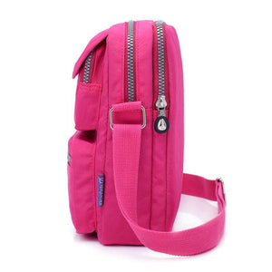 double compartment nylon bag