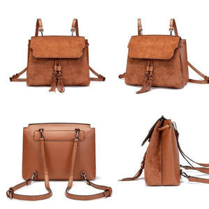 Brown convertible backpack purse