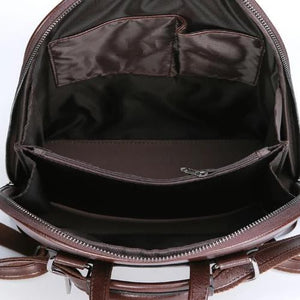 Multiple compartment backpack purse