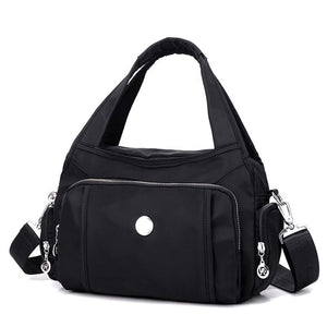 Black shoulder nylon bag
