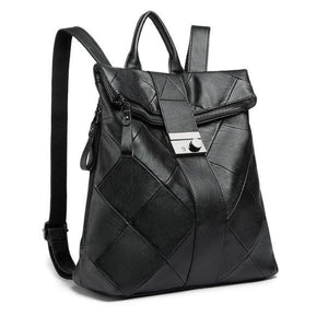Women leather antoitheft backpack purse