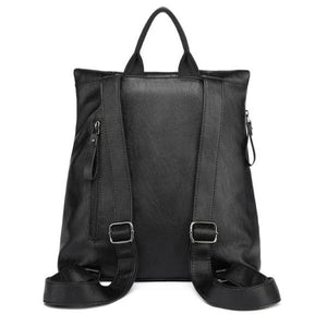 Vegan leather with back zipper pocket