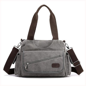 Canvas purse crossbody multiple pocket women